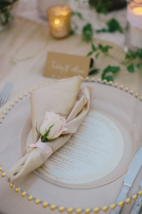 La Jolla Private Estate Wedding with Crown Weddings and First and Orange Photography. Wedding menu ideas
