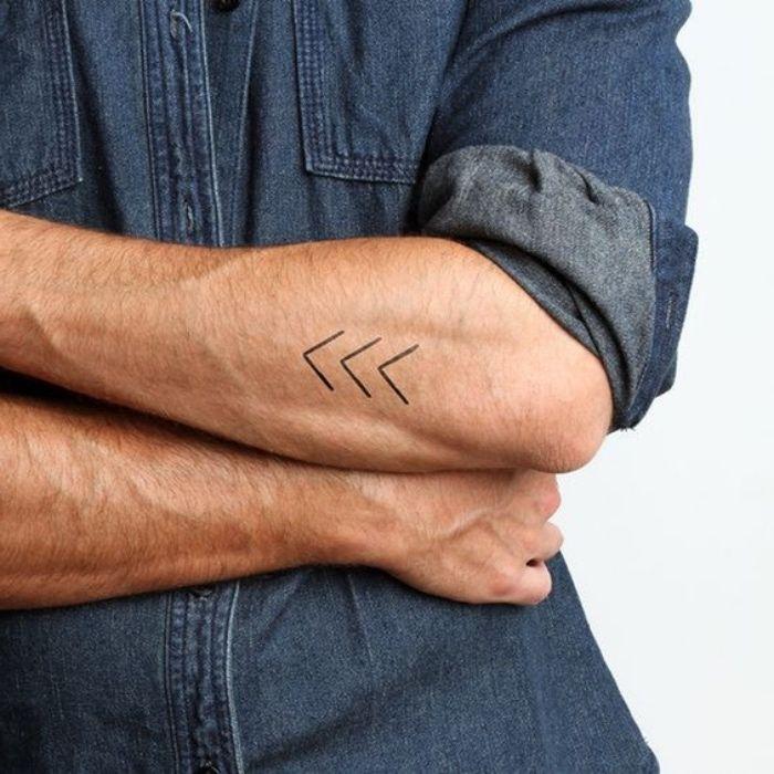 Les 25 meilleures id es de la cat gorie tatouages de fl ches sur pinterest fl che tat - Petit tatouage discret homme ...