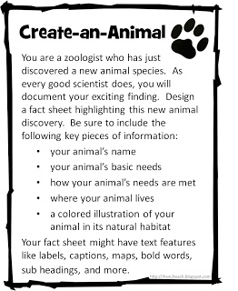 I Love 2 Teach: Create-an-Animal & Create-a-Plant {freebie}