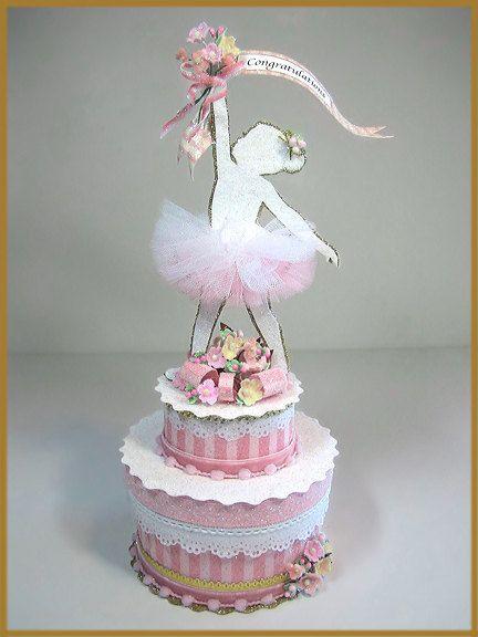Little Girl's Ballerina Cake Topper, Centerpiece, Keepsake Box, Little Girl's Sugar Plum Fairy