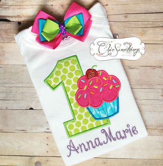 Birthday Girl Shirt Cupcake shirt birthday by ChicSomethings