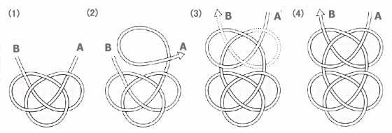 Mizuhiki Cording Knot Making -- 4 illustrated knot instructions
