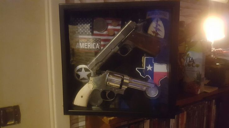my 3rd edition 1911 Colter 45auto. Also my Great G-Dads service pistol when he was sherif of Raking tx. it's a 44 spl. S&W 6shooter.