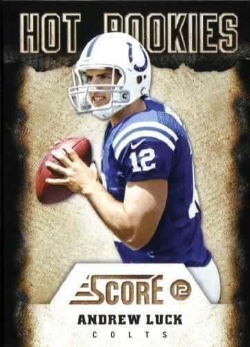"""2012 Score Football Hot Rookies Complete Mint 30 Card Insert Set. Loaded with Top Prospects Including Andrew Luck, Robert Griffin Iii, Trent Richardson, Justin Blackmon, Ryan Tannehill, Michael Floyd, Kendall Wright, Brandon Weeden, Coby Fleener, Brock Osweiler, Lamichael James and Others. by Hot Rookies Insert Set. $28.99. This is the 2012 Score Football """"Hot Rookies"""" complete mint 30 card insert set; it was never issued in factory form. Loaded with top prospects..."""