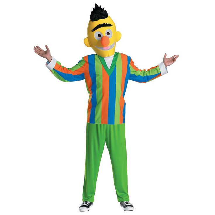 Sesame Street Bert Costume - Teen, Teens, Multicolor