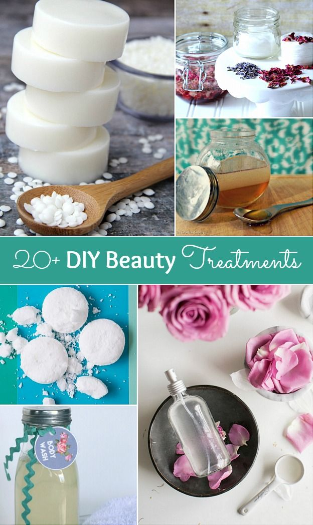 These DIY Beauty Treatments are full of healthy ingredients to soothe your skin, moisturize your hair, and pamper your feet! Give one as a DIY beauty gift to someone special!   Hello Little Home