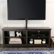 "58"" Espresso TV Stand Console with Mount"