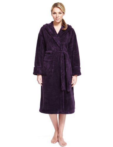 Supersoft Hooded Shawl Collar Cosy Dressing Gown - Marks & Spencer