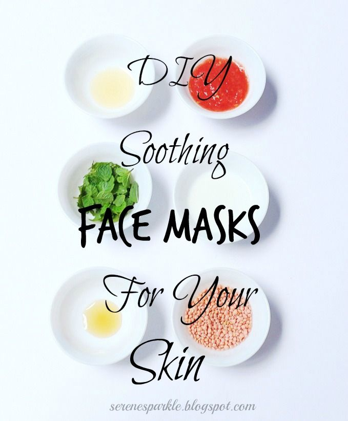 Serene Sparkle. Amazing DIY soothing face masks for your skin with some wonderful kitchen ingredients.