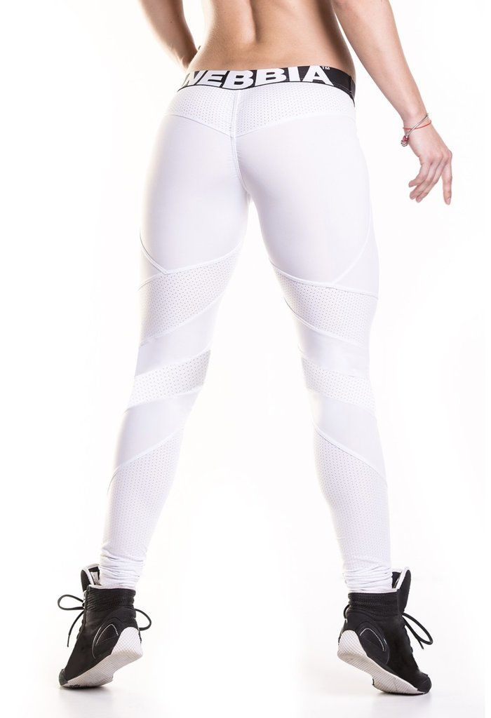 39ee022254c9f2 NEBBIA White Network Leggings 284 in 2019 | JustLookSexy apparel | Leggings,  White jeans, Workout wear