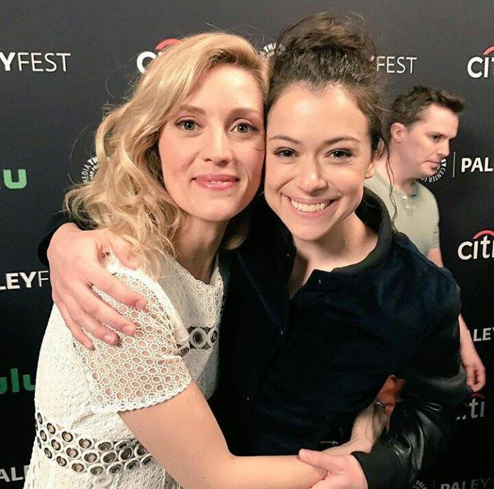 Tatiana Maslany and Evelyn Brochu