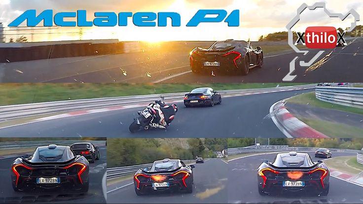 McLaren P1 + Seat Leon Cupra + Fast Biker - Epic - Nürburgring Nordschle...