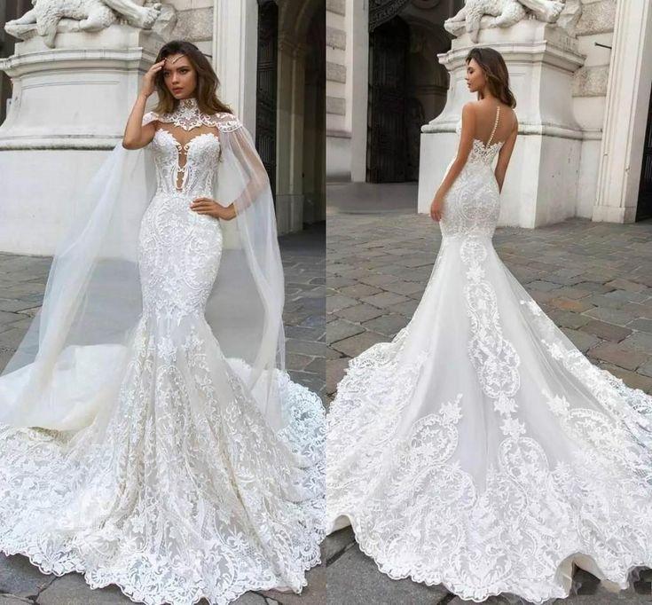 Dubai Arabic 2019 Mermaid Wedding Dresses Sleeveless Long Court Train Lace Applique Wedding Dress Bridal Gowns BA9313 Sale Wedding Dresses Sexy Bridal Gowns From Babyonline, $198.85| DHgate.Com