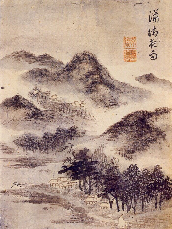 (Korea) 소상낙우 by Shim Sa-jeong (1907-1769). ca 18th century CE. color on paper.