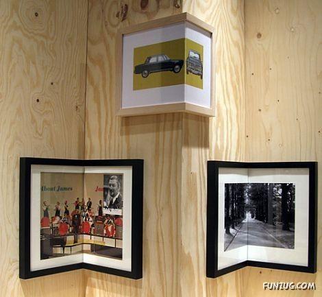Corner picture frames: Decor, Ideas, Corner Picture, Cornerframe, Pictures, Picture Frames, Photo, Design, Corner Frames