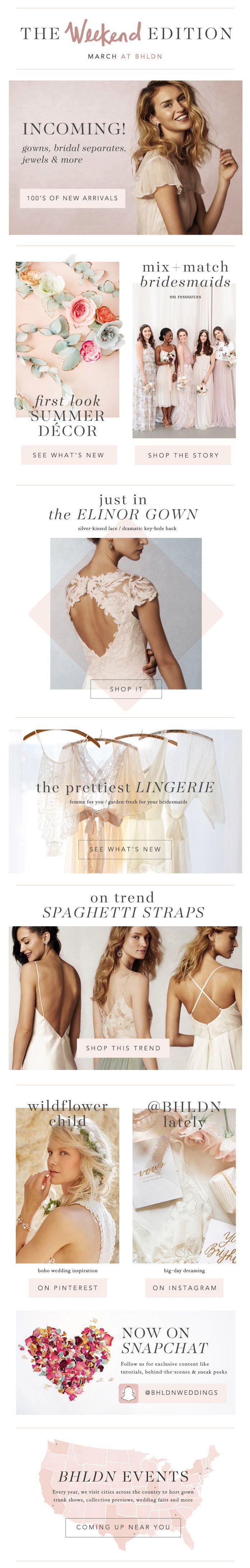 BHLDN | Anthropologie Weddings | March Newsletter | Email Design