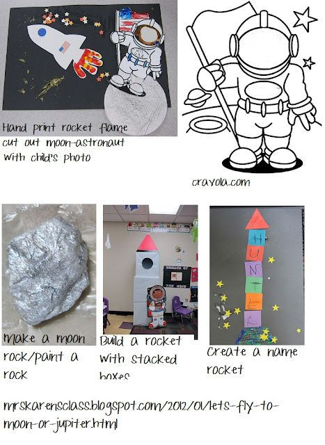 Space activities (use planets for enlightenment week, and rocket ships for mid 1900's week)