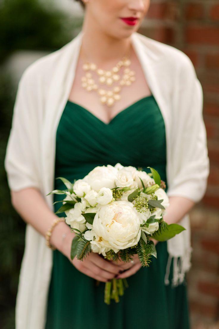 Emerald wedding dress   best Wedding Bridesmaids images on Pinterest  Bridal gowns