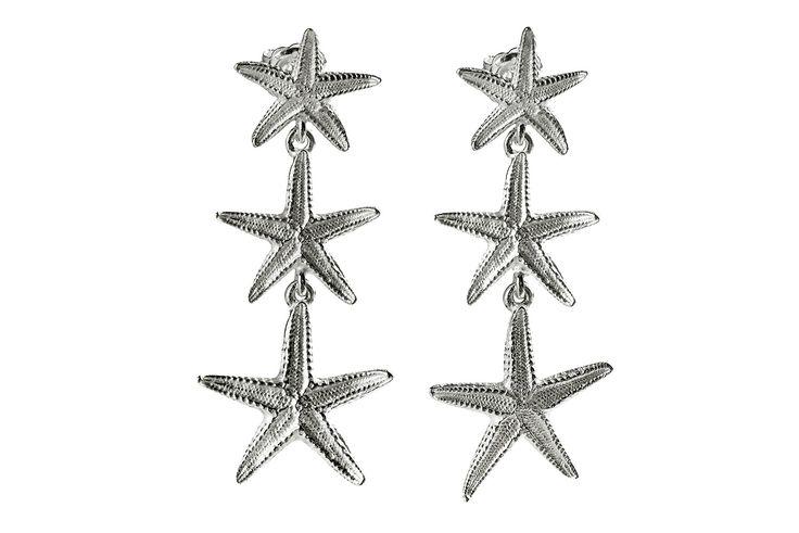 Orecchini con stelle marine in argento