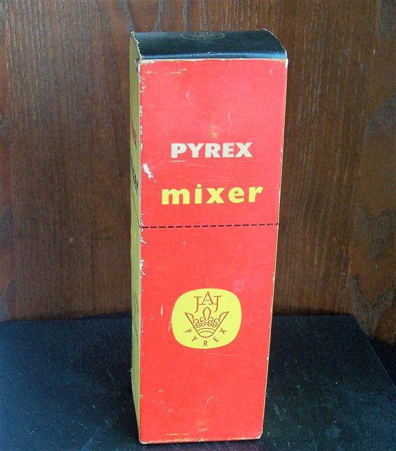 Vintage JAJ Pyrex Mixer Unused Original Box Red by IngliVintage