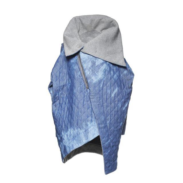 NUBEE - ASYMMETRY STACK płaszcz Jeans