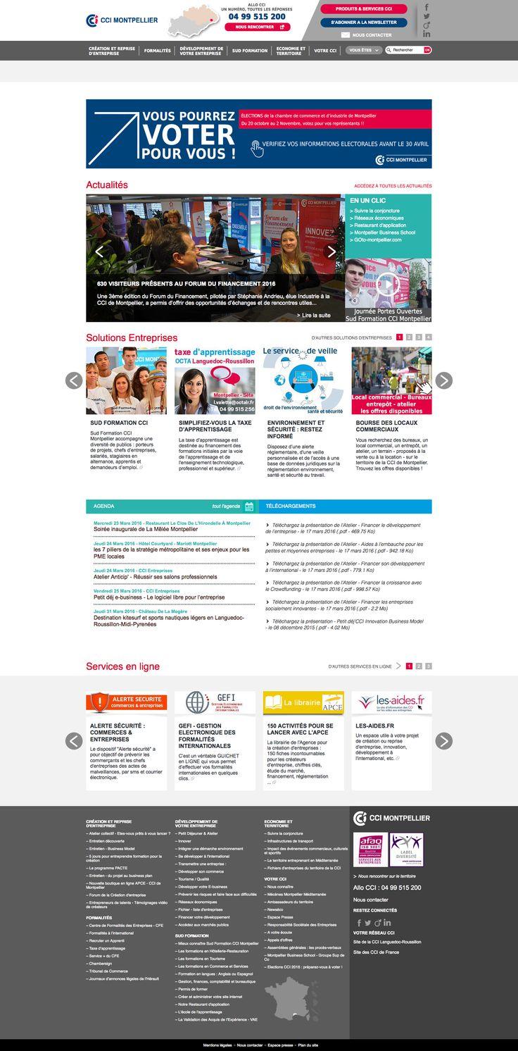 Refonte du site internet Drupal de la CCI de Montpellier. >