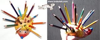 hérisson porte crayons