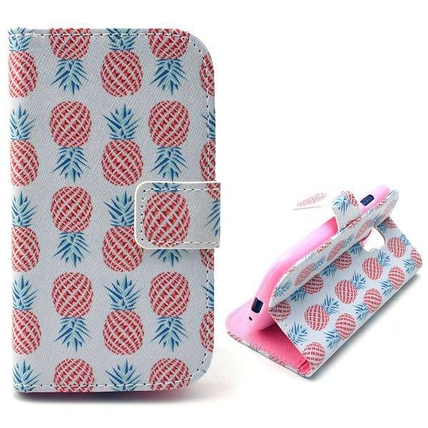 Ananas bookcase hoesje voor Samsung Galaxy S3 mini