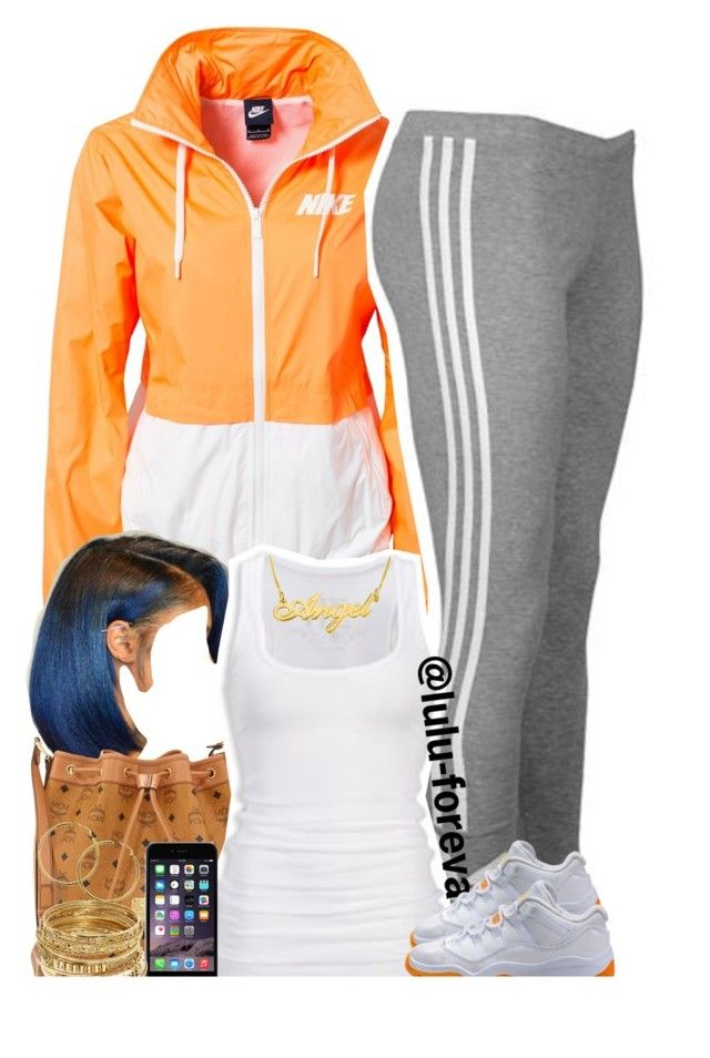 """""""Untitled #1598"""" by lulu-foreva ❤ liked on Polyvore featuring NIKE, adidas Originals, MCM, American Eagle Outfitters, Melissa Odabash and ABS by Allen Schwartz"""
