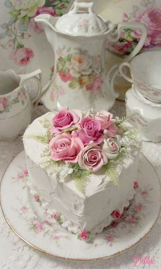 Beautiful Tea and faux cake ~ Debbie ❤