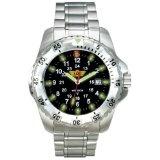 Uzi Men's Uzi-032-T The Defender Tritium H3 Silver Titanium Strap Watch (Watch)  #Whatches