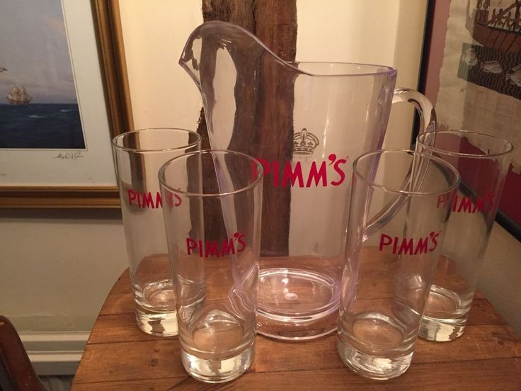 Pimms Jug and 4 x Highball Glasses Brand New Christmas Gift Idea #Pimms