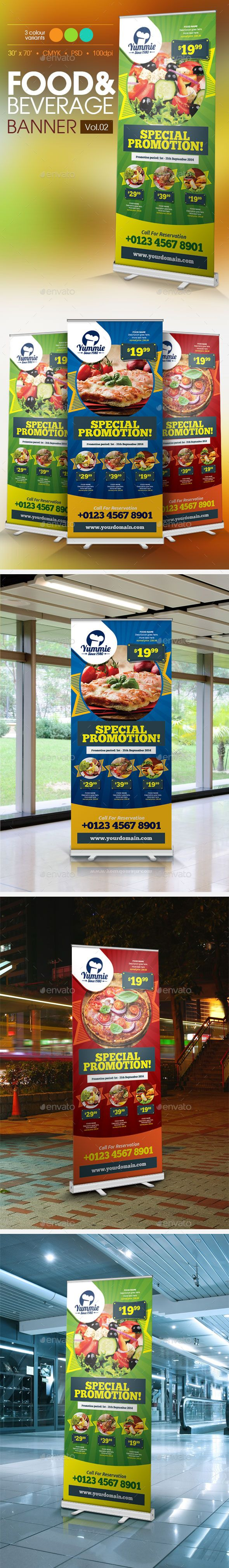 Restaurant Banner Template #design Download: http://graphicriver.net/item/restaurant-banner-vol2/11422980?ref=ksioks
