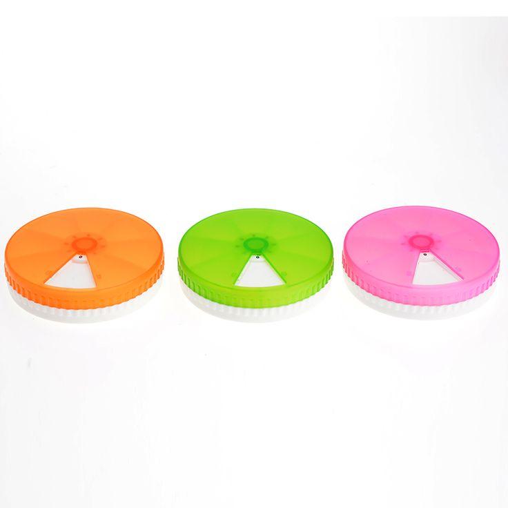 1 Piece Portable Mini Cute Rotatable Plastic Pill Box Medicine Case For Healthy Care Empty Pilulier