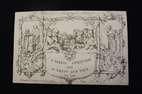 41 best antique christmas images on pinterest antique for Who commissioned the first christmas card in 1843