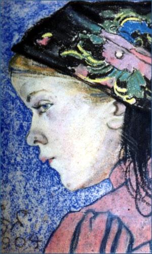 """Stanisław Wyspiański """"Dziewczynka""""    1904"""