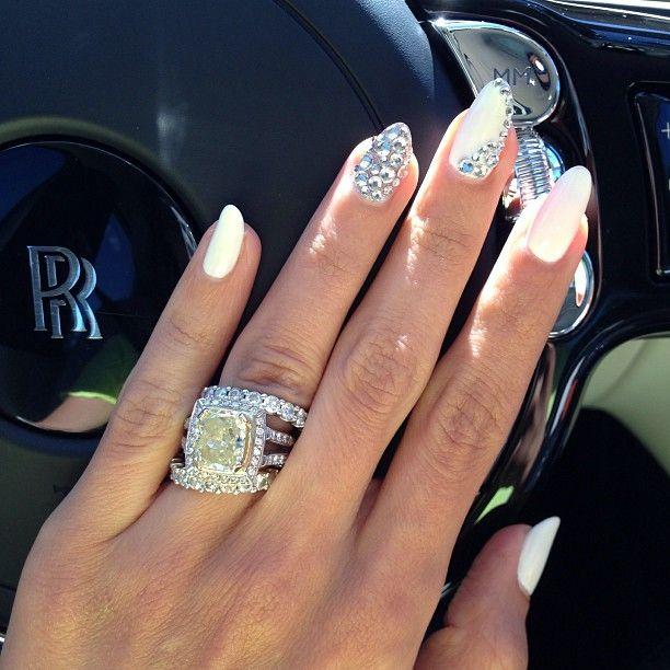 Leyla Milani Khoshbin Fabulous Manicure And Diamonds