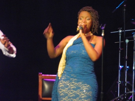Nothende performing at the Road to Joy Of Jazz at Lyric theatre