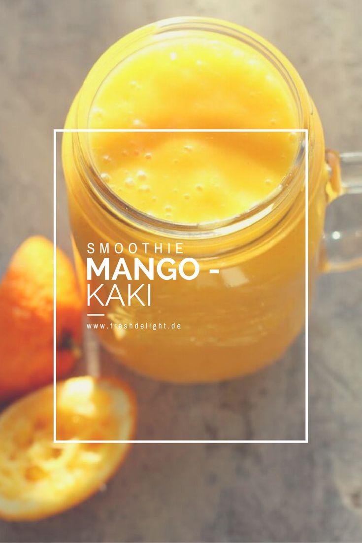 Mango und Kaki - eine leckere Kombi im Smoothie.