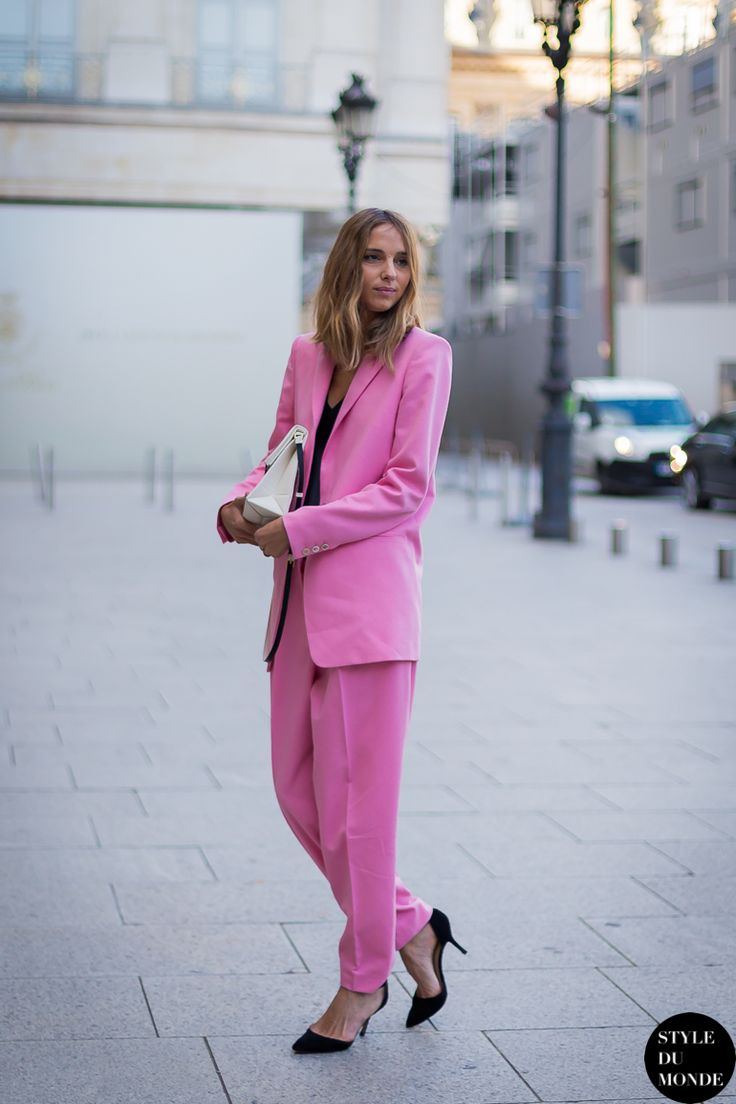 New post on http://www.styledumonde.com/ with #CandelaNovembre @Dian Paramita novembre at #Paris #fashionweek #pfw #fw14 wearing #pink #Vionnet @vionnet_paris #outfit #ootd... #streetstyle #streetfashion #streetchic #streetlook #fashion #mode #style #weloveit. Photo by #styledumonde