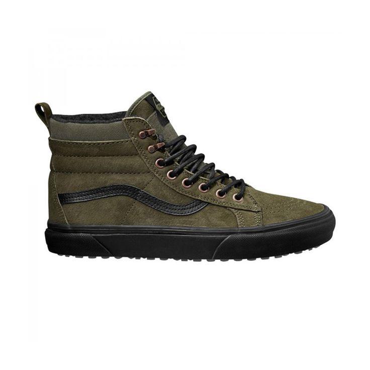 Zapatillas Vans Sk8-Hi MTE Pat Moo de hombre. Botas vans de montaña en color verde con suela negra.