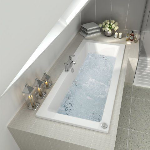 1700x750x400mm Round Double Ended Bath 14 Jets - soak.com