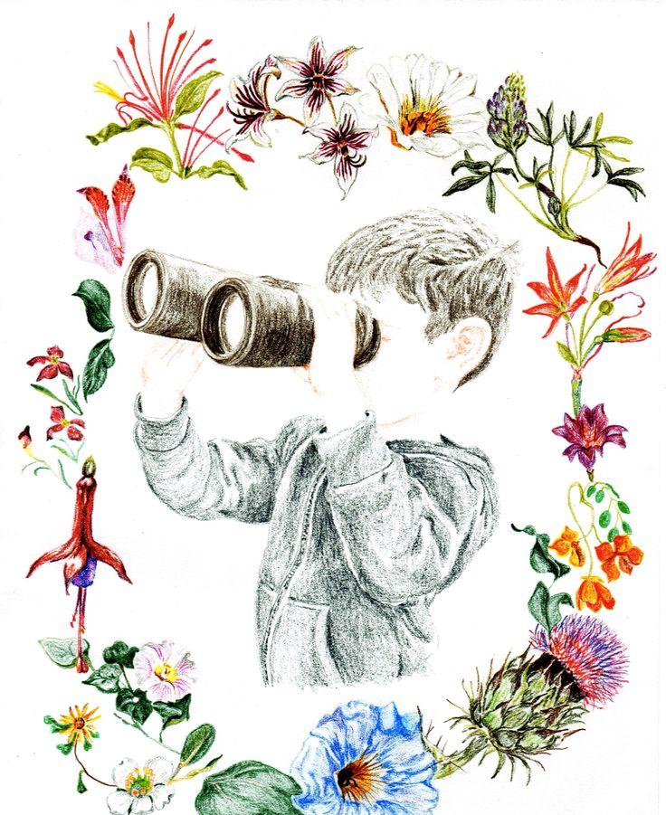 Niño descubriendo la flora y fauna chilena. Por Coco & Co