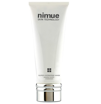 Nimue Skin Technology Super Hydrating Mask:  A moisture rich cream mask based on a superior blend of hydrating ingredients, Ubiquinone and Phytoceuticals to supplement, soothe and hydrate dry and dehydrated skin conditions.