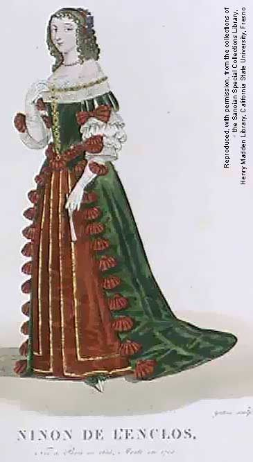 Anne « Ninon » de l'Enclos, also named Ninon de Lenclos or Ninon de Lanclos (1620-1705), celebrate courtesane.