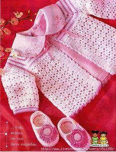 crochelinhasagulhas: Casaco de crochê para bebê