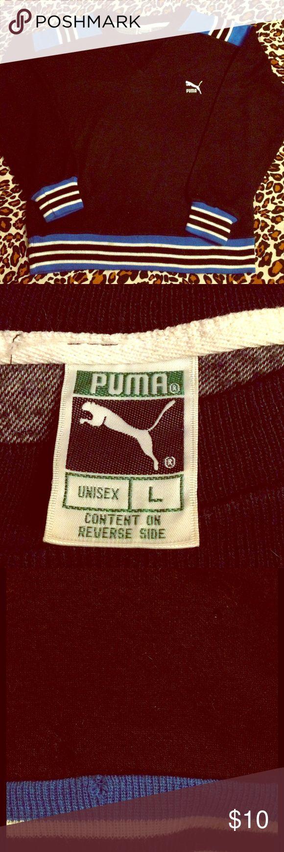 True Vintage Puma Sweatshirt Adult S/ Kids L True vintage Puma sweatshirt! 3 small holes in front, but they don't go all the way through ... Fair vintage condition. Puma Tops Sweatshirts & Hoodies
