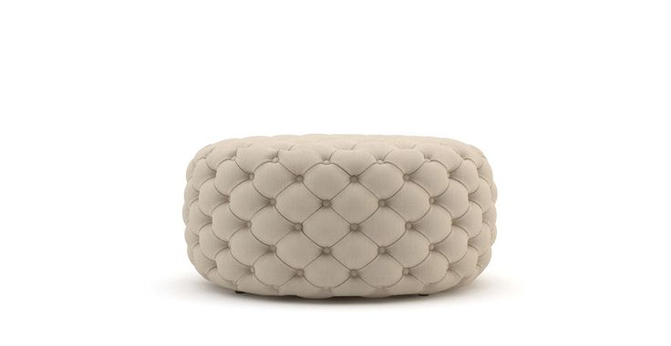 Picture of Marken Large Round Ottoman - French Beige