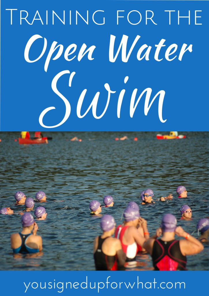Training for the open water swim - triathlon information