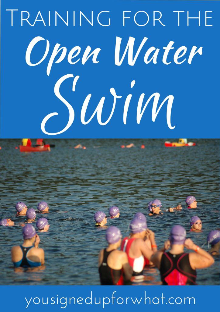 Training for the open water swim - triathlon information